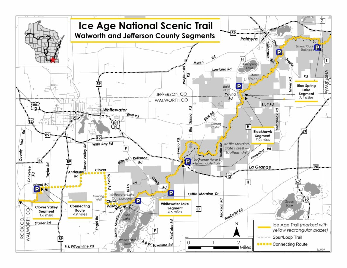 Ice Age Trail map